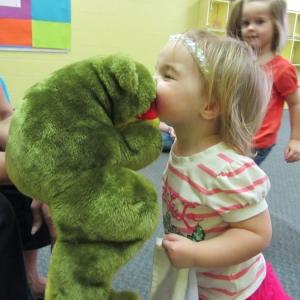 Lena kiss frog 2